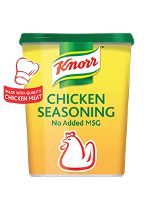 Knorr Chicken Seasoning Powder (No-Added-MSG) (6x1kg) - Our chicken seasoning gives an authentic stock taste without the addition of MSG