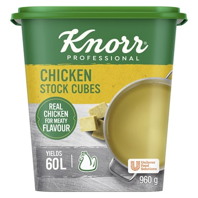 Knorr Professional Chicken Stock Cubes (6x120x8g) - Knorr Professional Chicken Stock Cubes deliver rich and authentic meaty flavour to your rice and stew-based dishes