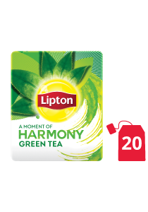 Lipton Green Tea Pure (16x20 teabags) - Green tea from the world's no. 1 tea brand, Lipton, helps in digestion and increases focus